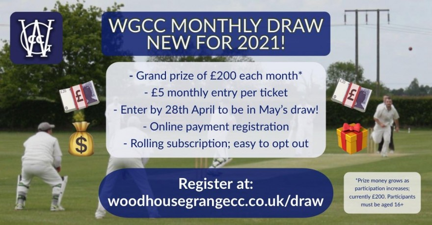 WGCC Monthly Draw Launch Poster
